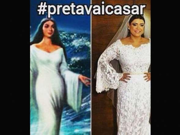 Vestido de noiva de Preta Gil vira meme na internet