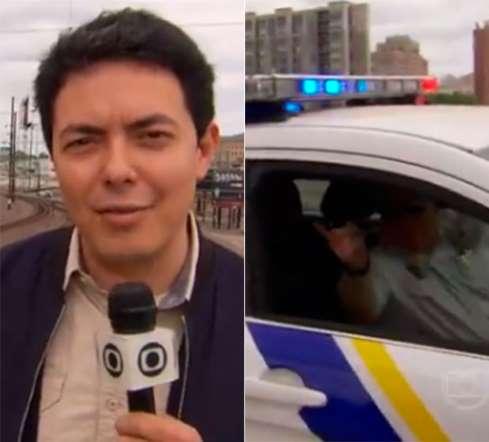 Repórter da Globo é expulso de local por polícia americana